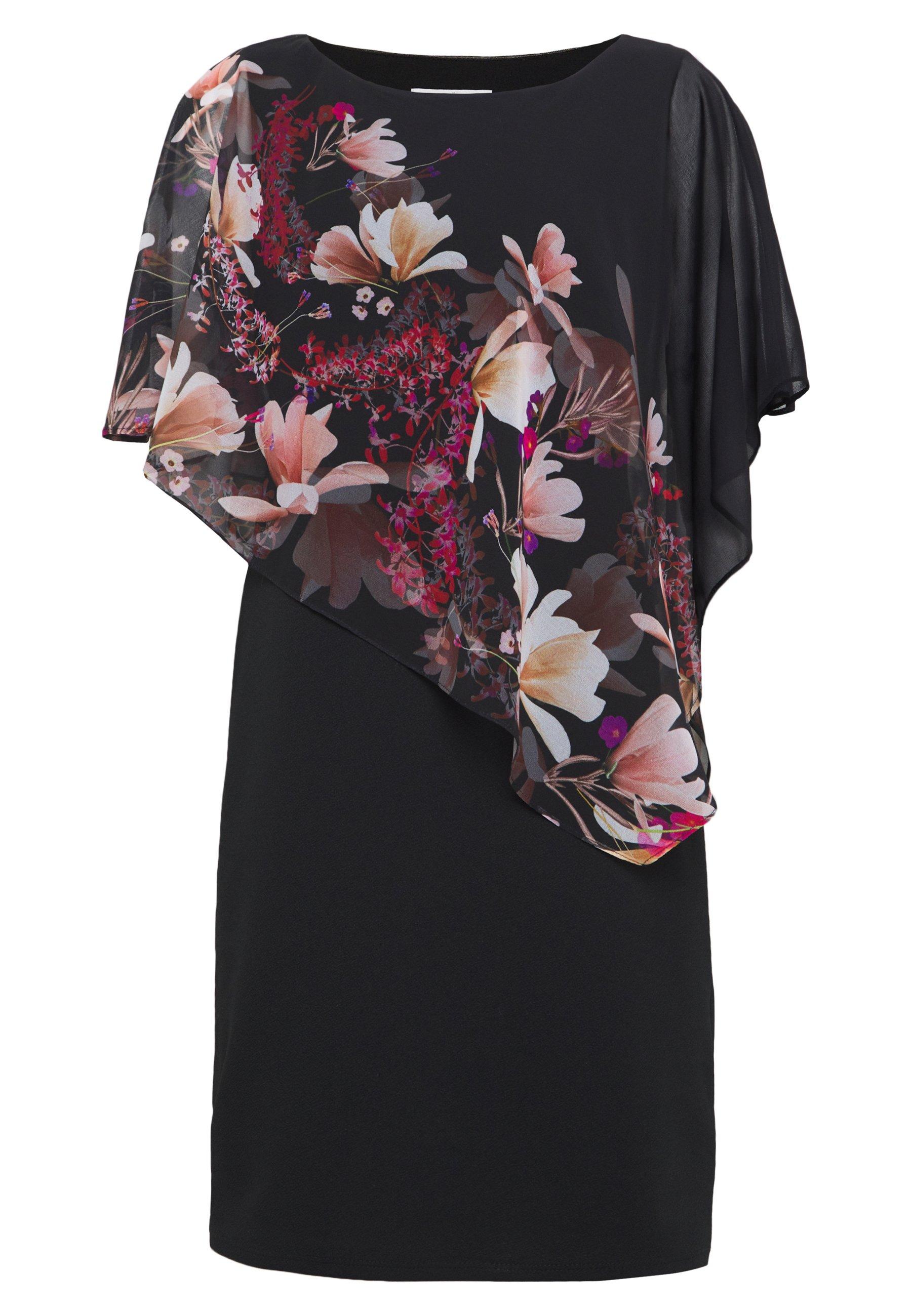 Wallis Petite Floral Overlayer Dress - Robe D'été Black