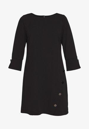 BUTTON SHIFT DRESS - Vestito estivo - black