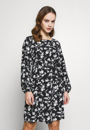 CLUSTER CHERRY BLOSSOM DRESS - Vestido informal - black