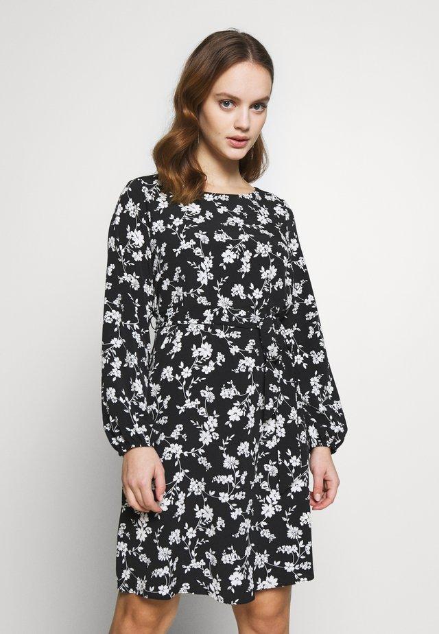 CLUSTER CHERRY BLOSSOM DRESS - Day dress - black