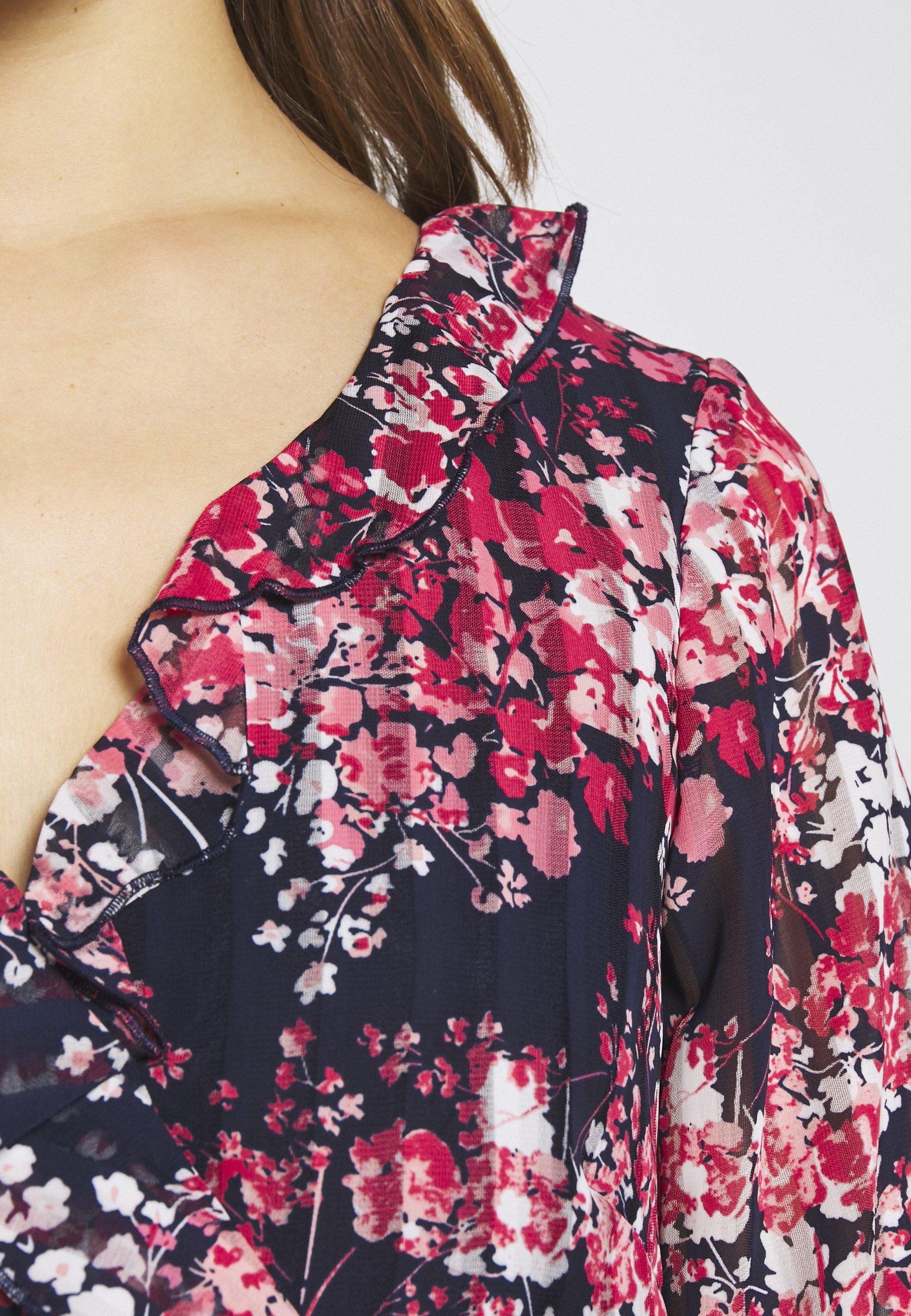 Wallis Petite CLUSTER FLORAL FIT AND FLARE DRESS - Sukienka letnia - ink