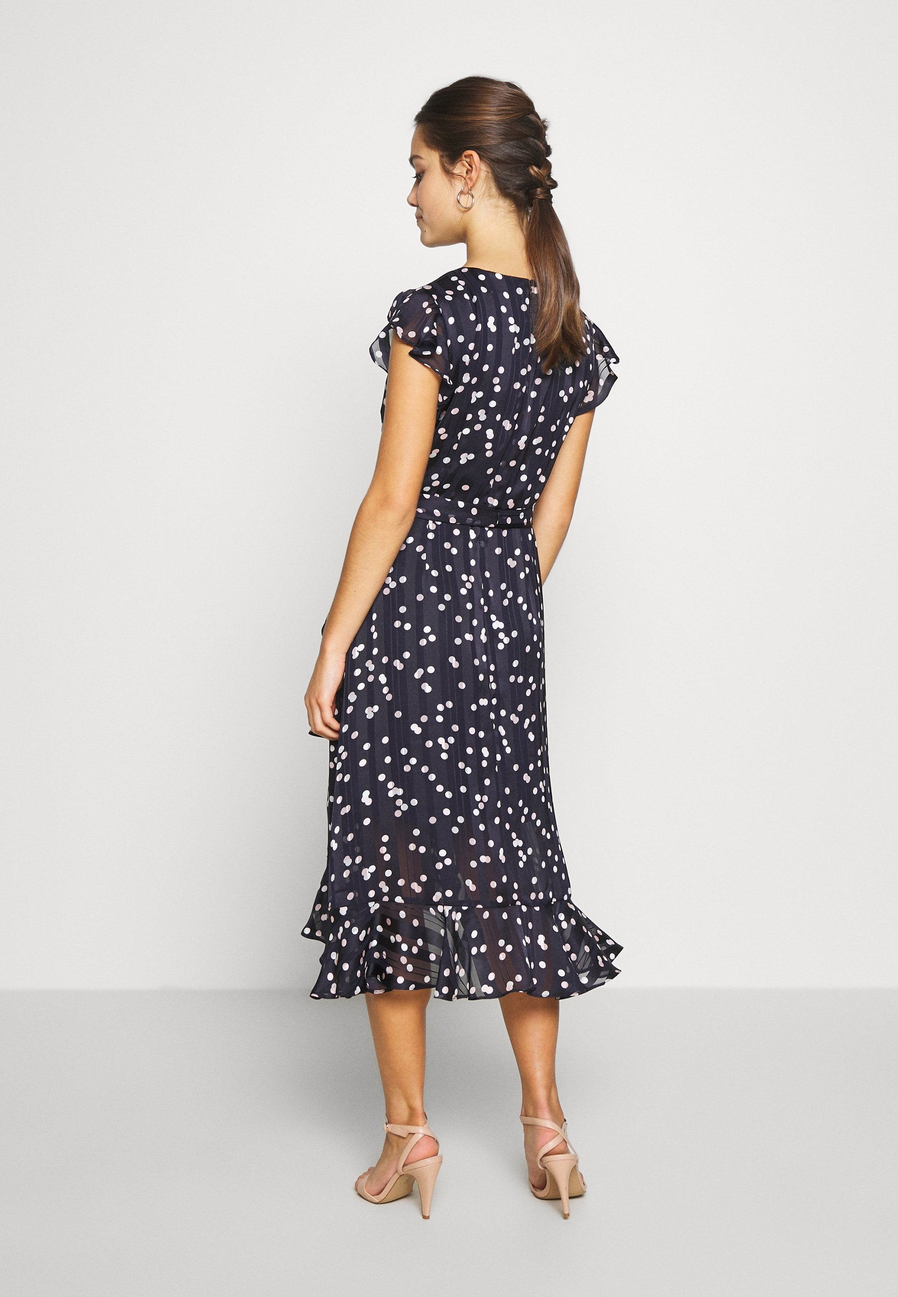 Wallis Petite SPOT RUFFLE DRESS - Sukienka letnia - ink