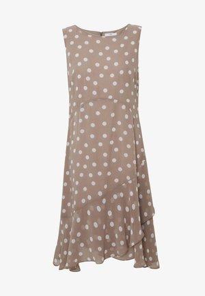SPOT HANKY HEM DRESS - Vestido informal - taupe