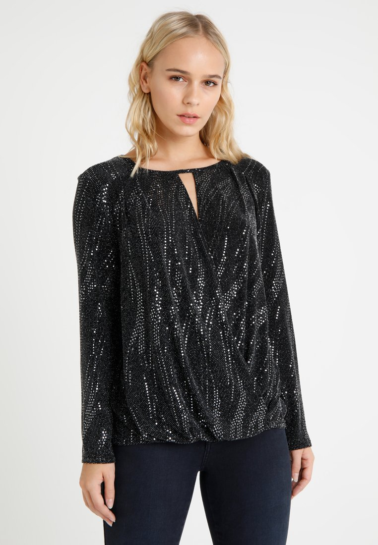 Wallis Petite - SHIMMER SEQUIN - Long sleeved top - silver