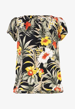 TROPICAL JUNGLE SHELL - Bluzka - black