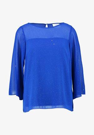 SHEER YOKE GLITTER - Blouse - blue