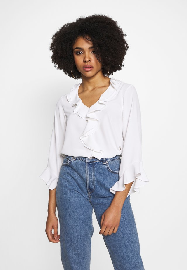 FRILL FRONT - Blusa - ivory