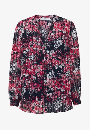 CLUSTER FLORAL RUFFLE - Bluse - ink
