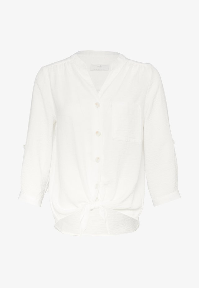 LOOK TIE FRONT - Bluzka - ivory