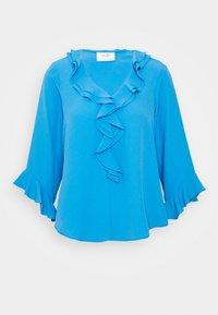Wallis Petite - RUFFLE FRONT - Blusa - blue - 4