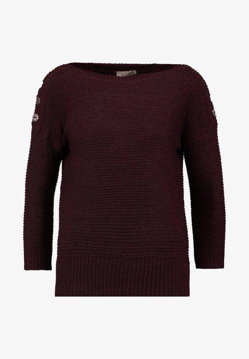 wylot Wallis Petite CREW NECK TAPE JUMPER - Sweter - berry Odzież Damska BJPU-VG9