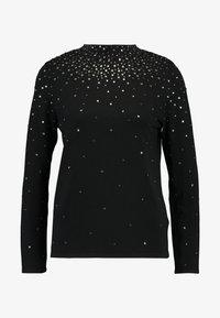 Wallis Petite - SCATTER STUD HIGH NECK - Stickad tröja - black - 3