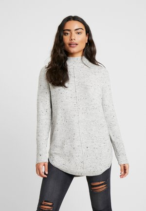 HIGH NECK NEPP CURVE HEM - Pullover - grey