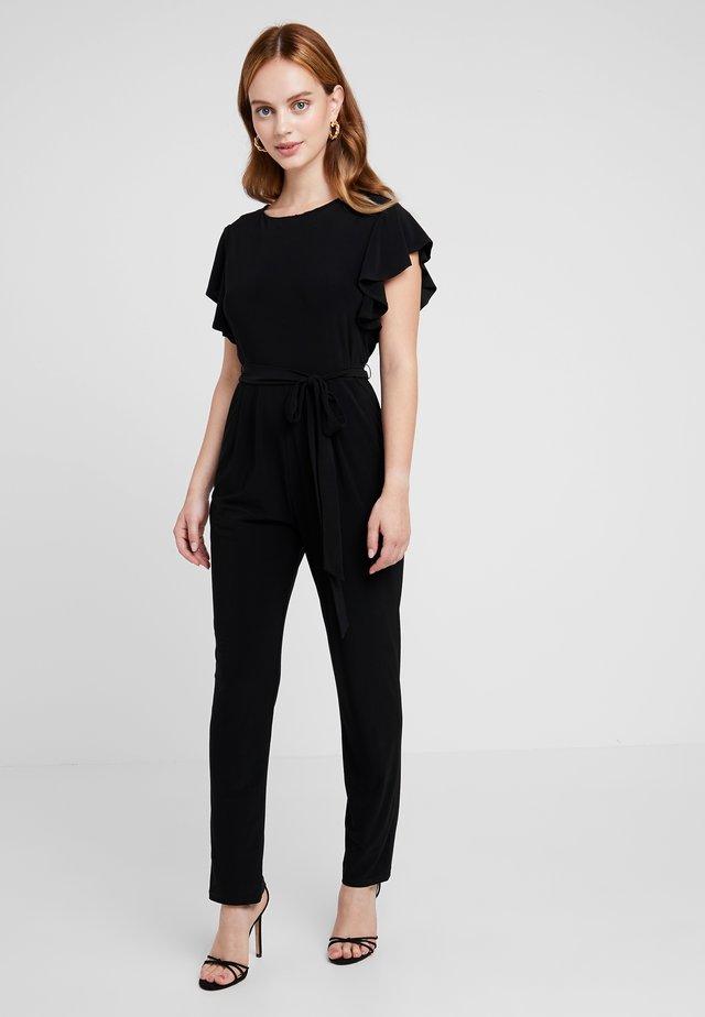 FRILL - Tuta jumpsuit - black
