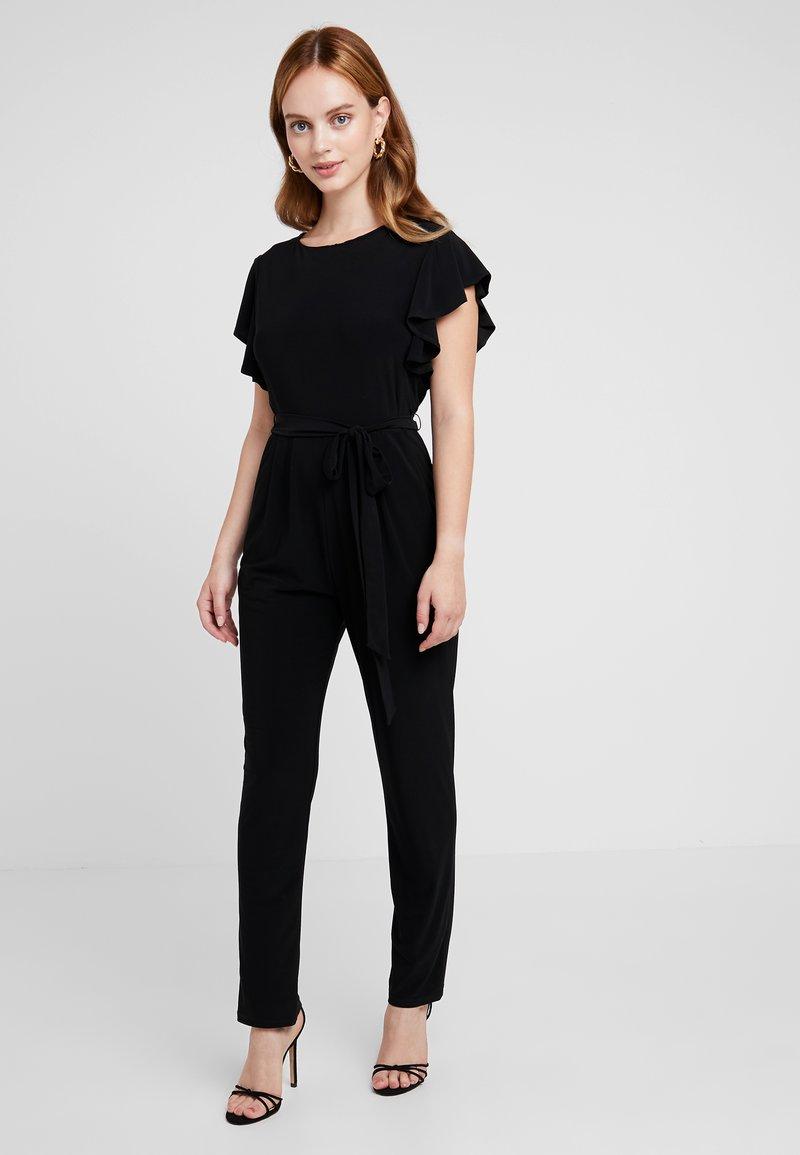 Wallis Petite - FRILL - Tuta jumpsuit - black
