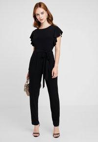 Wallis Petite - FRILL - Tuta jumpsuit - black - 2