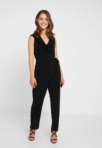 Wallis Petite - NECK FRILL - Jumpsuit - black - 0