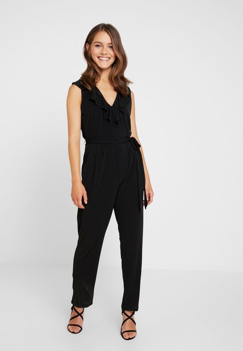 Wallis Petite - NECK FRILL - Jumpsuit - black