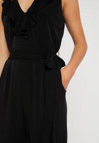 Wallis Petite - NECK FRILL - Jumpsuit - black - 5