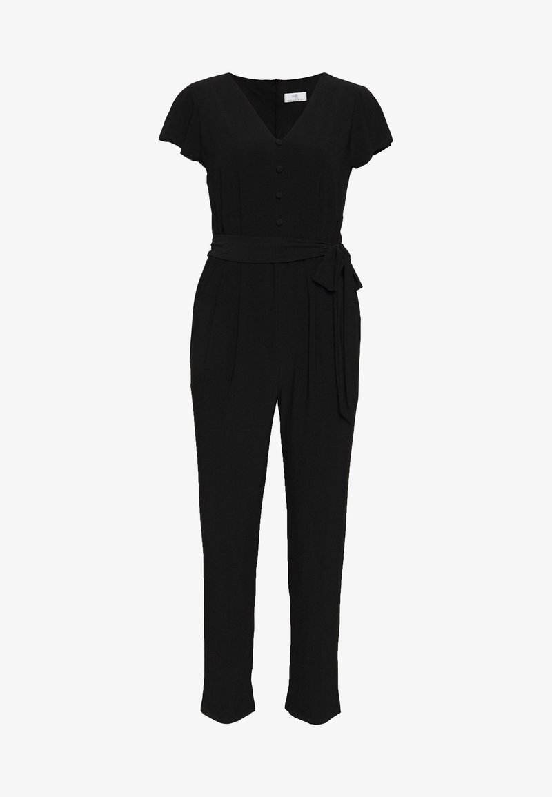 Wallis Petite - PETITE BUTTON - Tuta jumpsuit - black