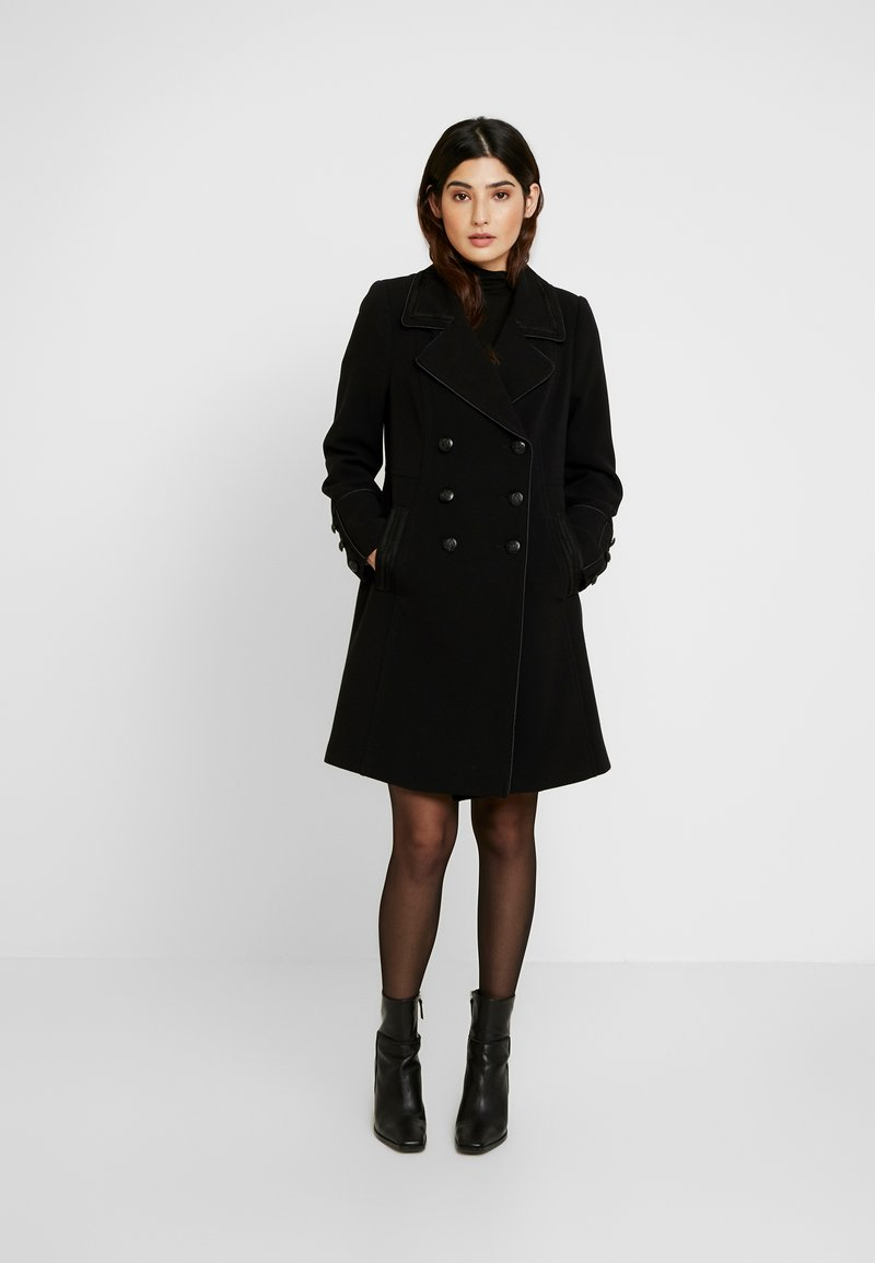 Wallis Petite - REVERE BRAIDED MILITARY - Classic coat - black