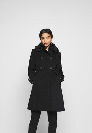 PETITE FAUX - Classic coat - black