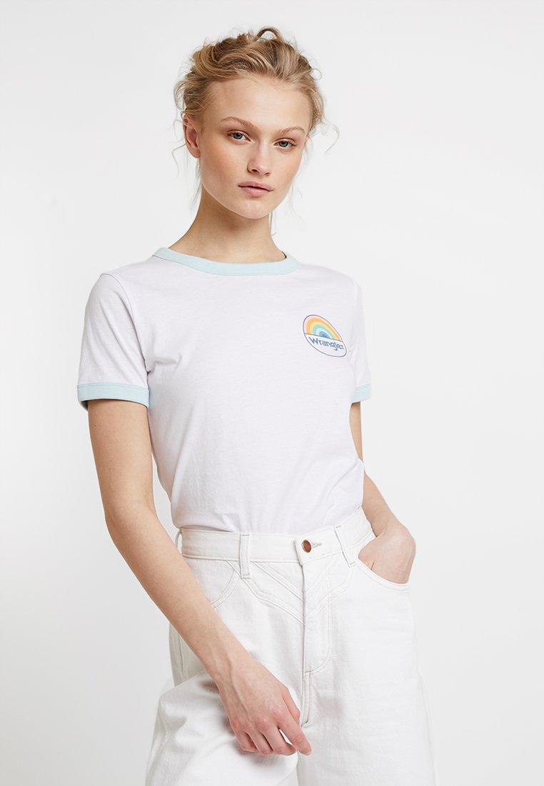 Wrangler - RINGER TEE - Print T-shirt - white