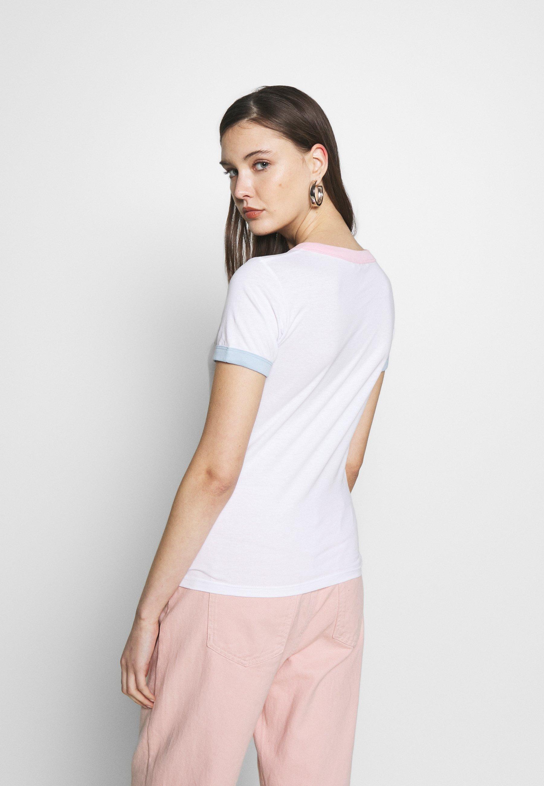 Wrangler RINGER TEE - T-shirts med print - real white