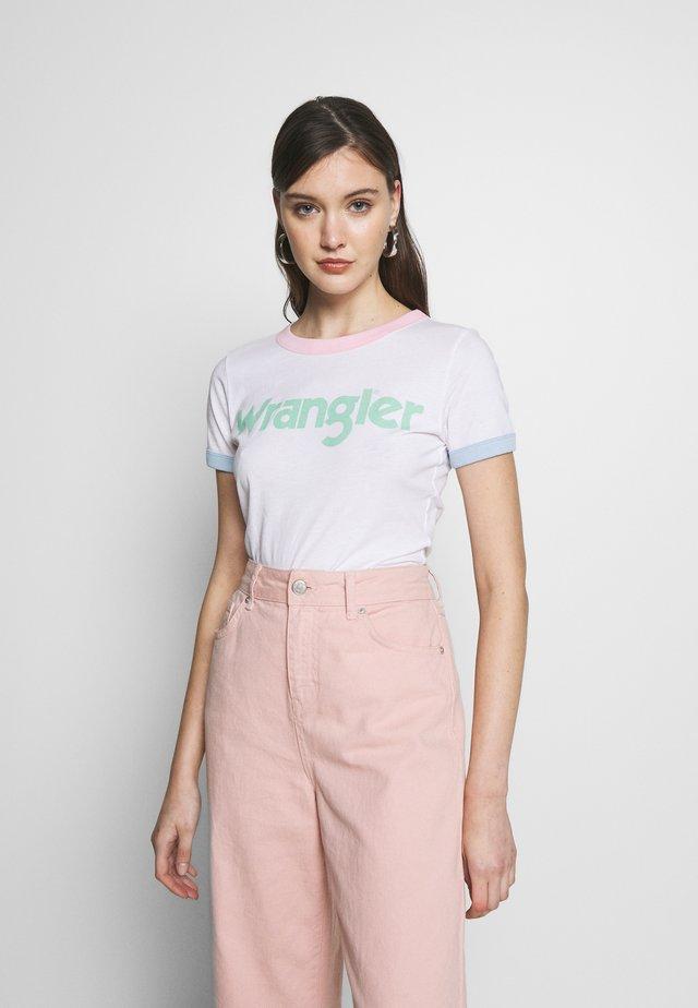 RINGER TEE - T-shirt print - real white