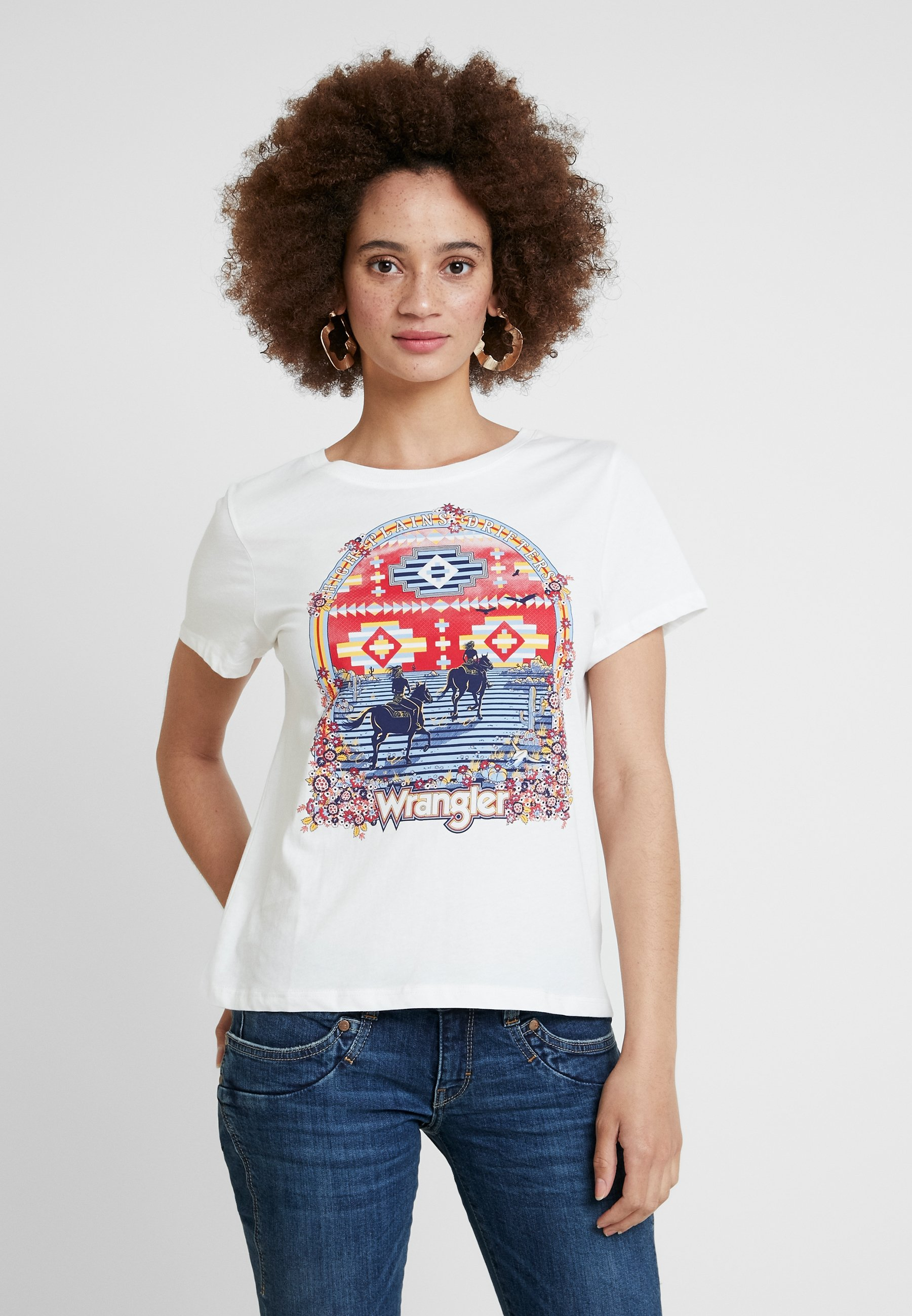 TeeT White shirt Wrangler Round Imprimé Off oQCxrdBeW