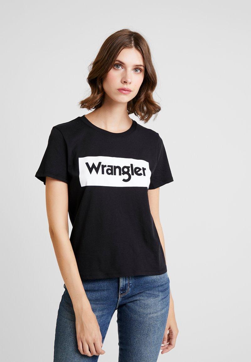 Wrangler - LOGO TEE - Print T-shirt - black