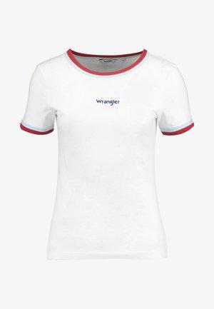 DOUBLE RINGER TEE - T-Shirt print - off white