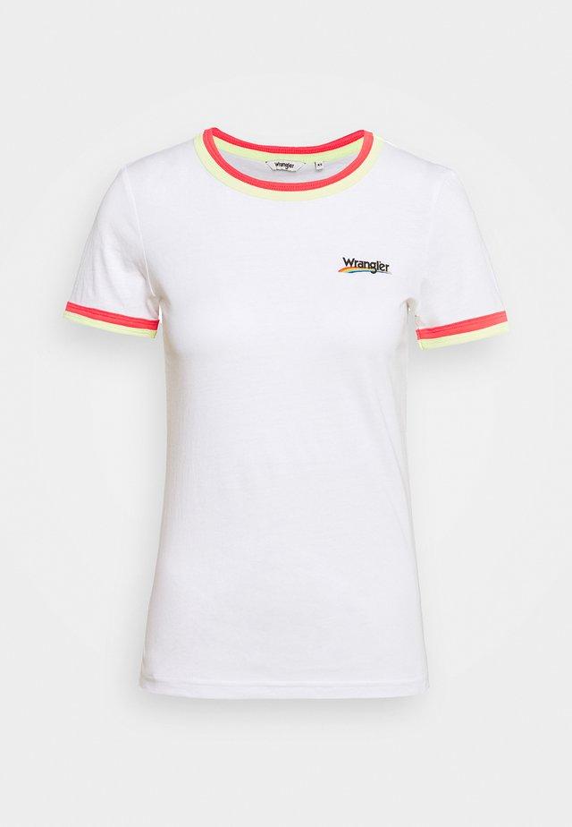 DOUBLE RINGER TEE - T-shirt z nadrukiem - white