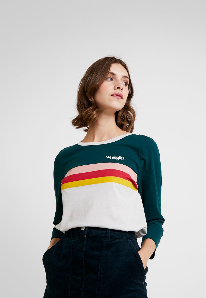 Wrangler - RAINBOW TEE - Long sleeved top - cloud blue