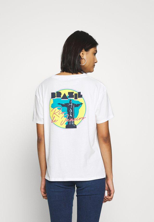 BOYFRIEND - T-shirt z nadrukiem - off white