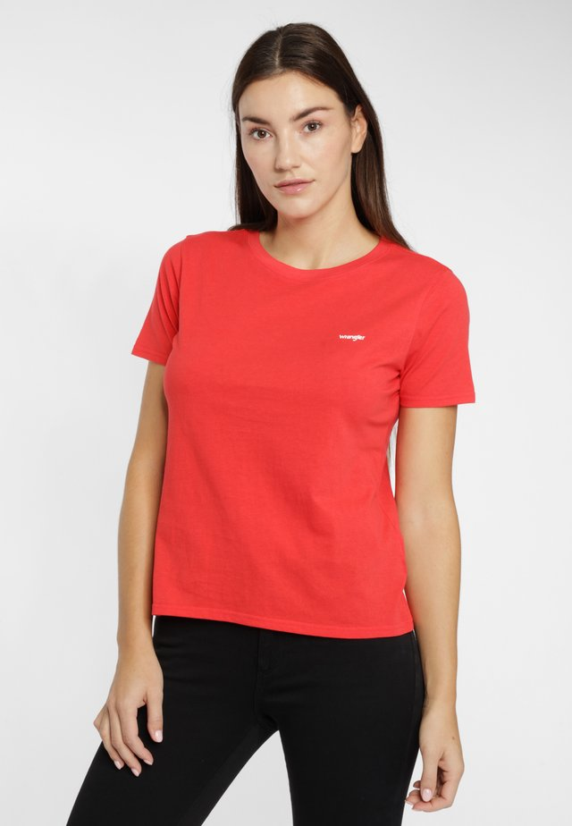 SIGN OFF TEE - T-shirt basic - bittersweet red