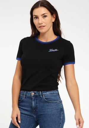 DOUBLE RINGER - T-shirt z nadrukiem - black