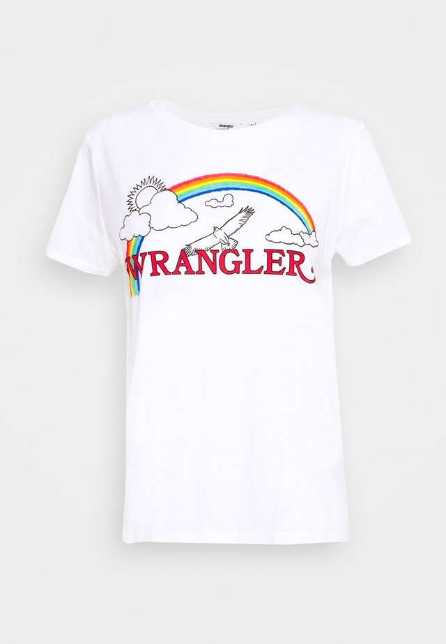 RAINBOW REGULAR - T-shirt z nadrukiem - true white