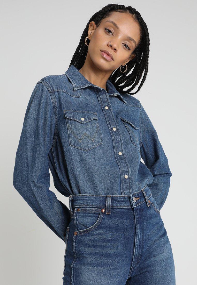 Wrangler - Skjorte - blue denim