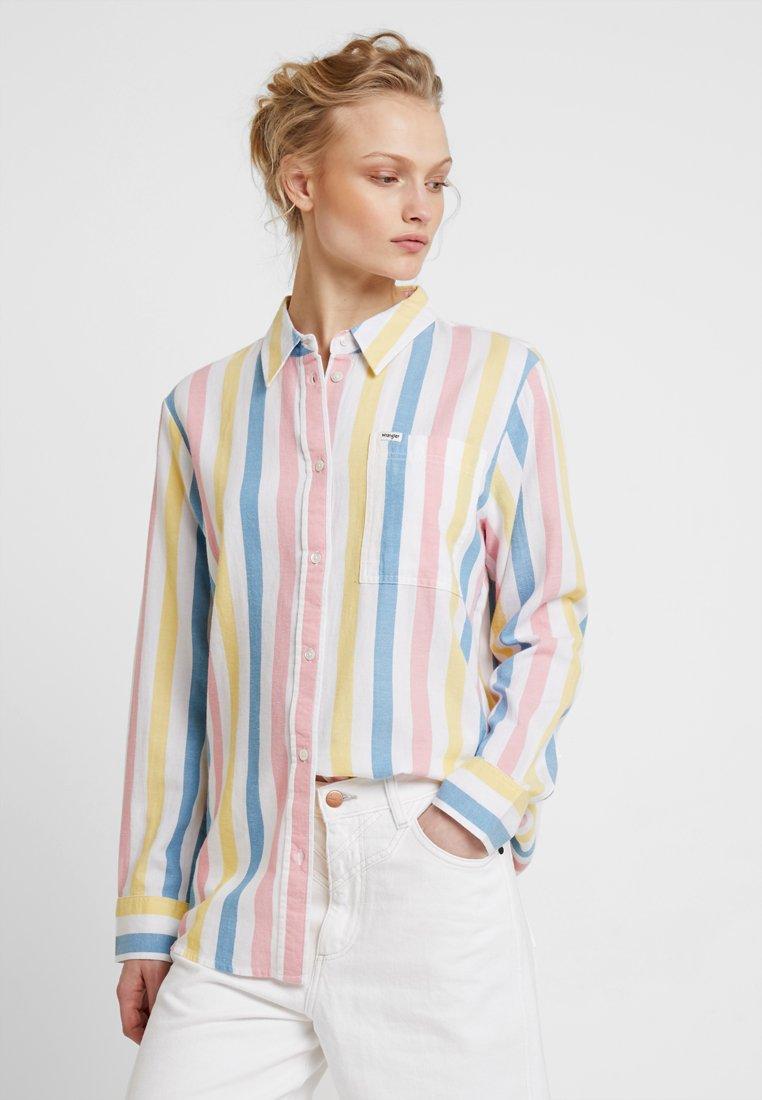 Wrangler - DECK CHAIR STRIPE - Button-down blouse - white