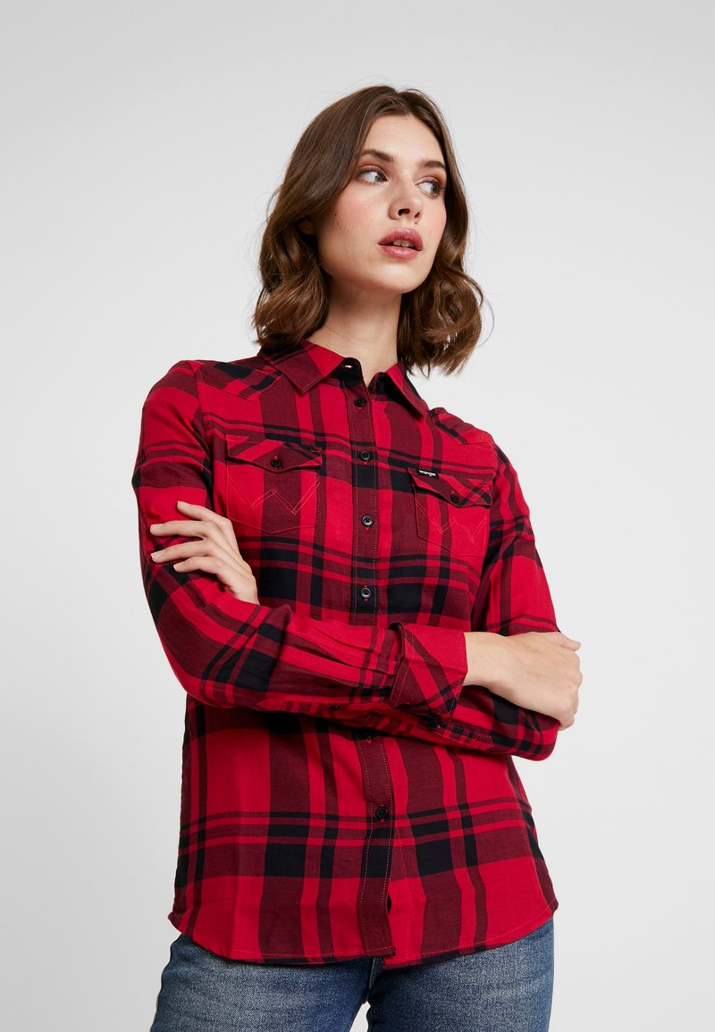 Wrangler - WESTERN CHECK - Hemdbluse - magenta red