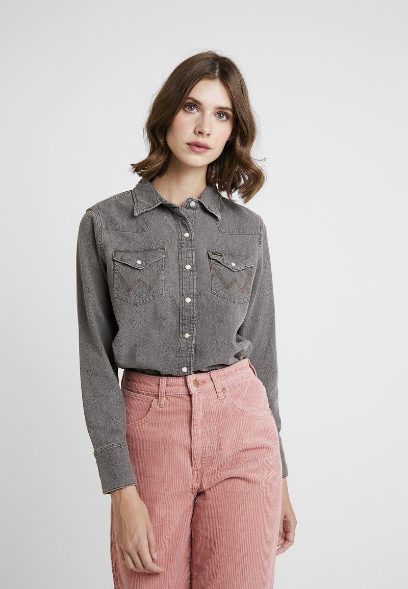 Wrangler - Button-down blouse - black