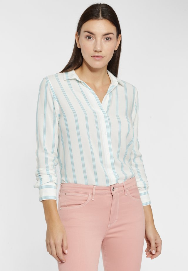 Button-down blouse - carribean sea