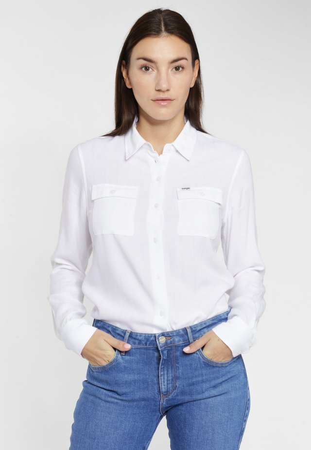 UTILITY - Button-down blouse - white