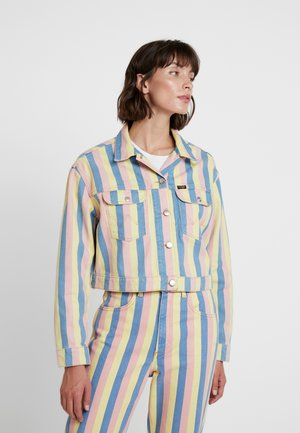 CUT OFF JACKET - Kurtka jeansowa - sunny stripes