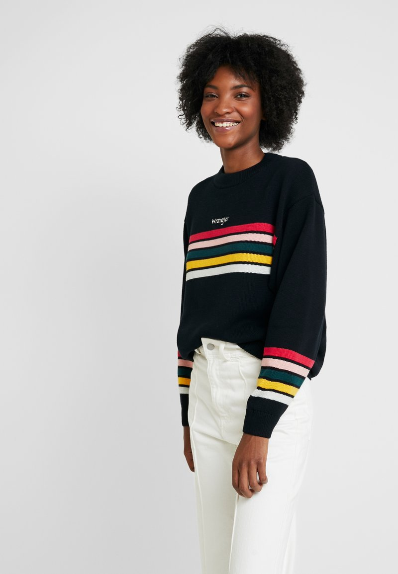Wrangler - RAINBOW - Jumper - black