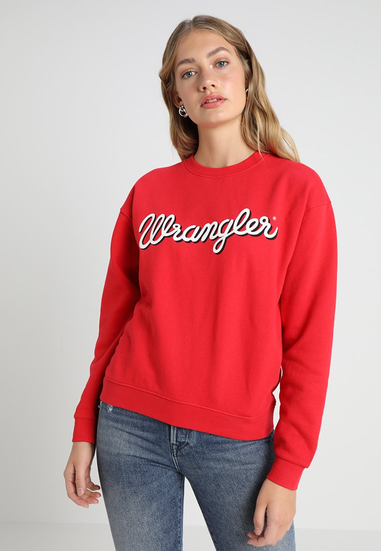 Wrangler - LOGO - Sweatshirt - true red