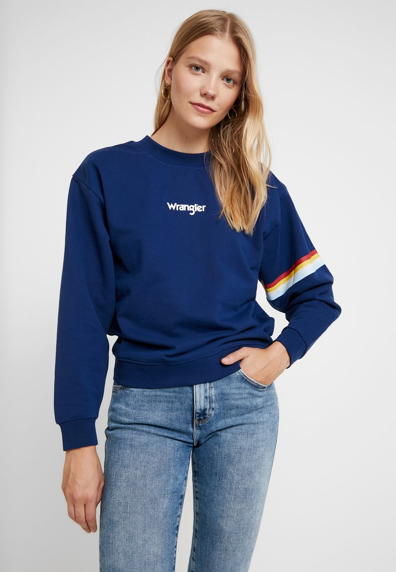 RetroSweatshirt Wrangler Depths 80s RetroSweatshirt Blue 80s 80s Depths Wrangler Wrangler Blue j3ALqR54