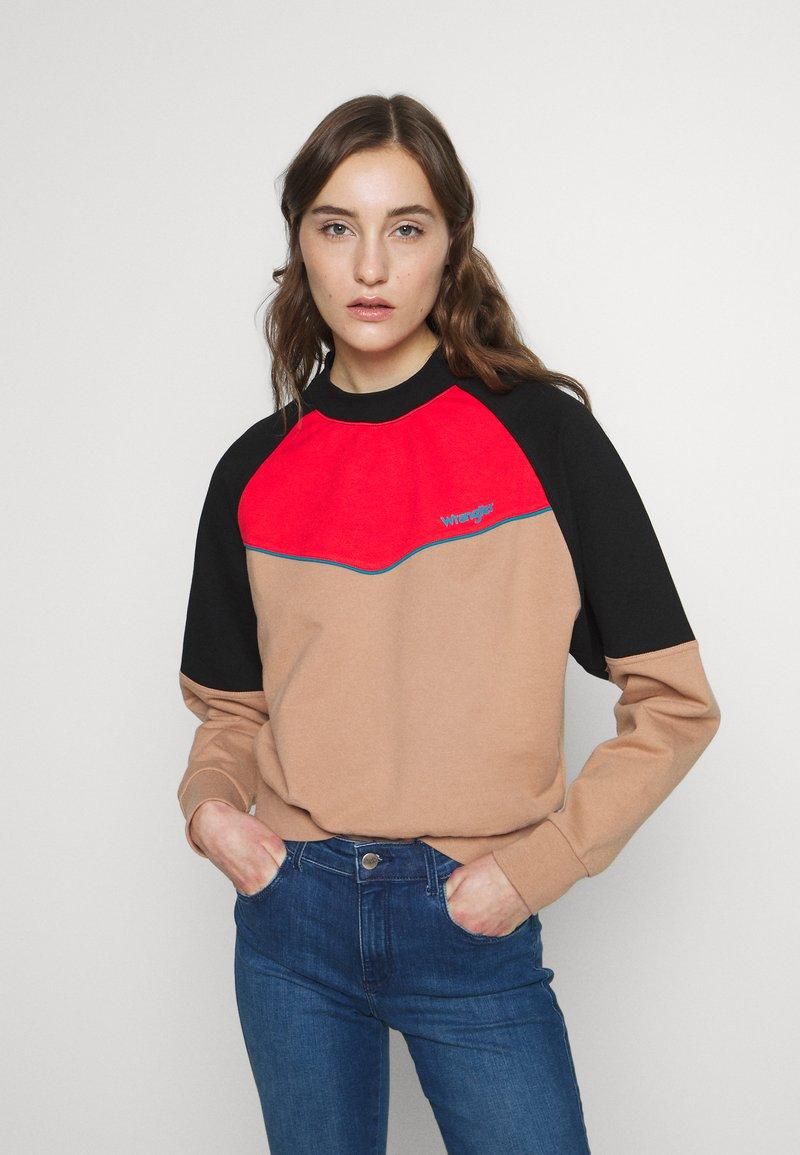 Wrangler - RETRO - Sweatshirt - pyramid sand