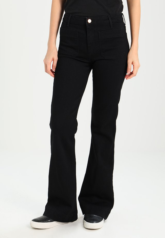 FLARE - Flared jeans - retro black